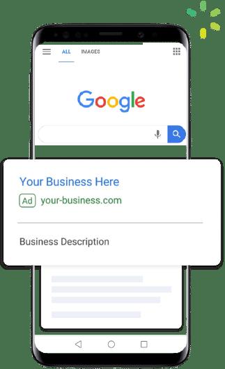 AdWords listings